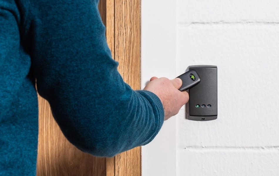 Paxton access control with token and access token reader