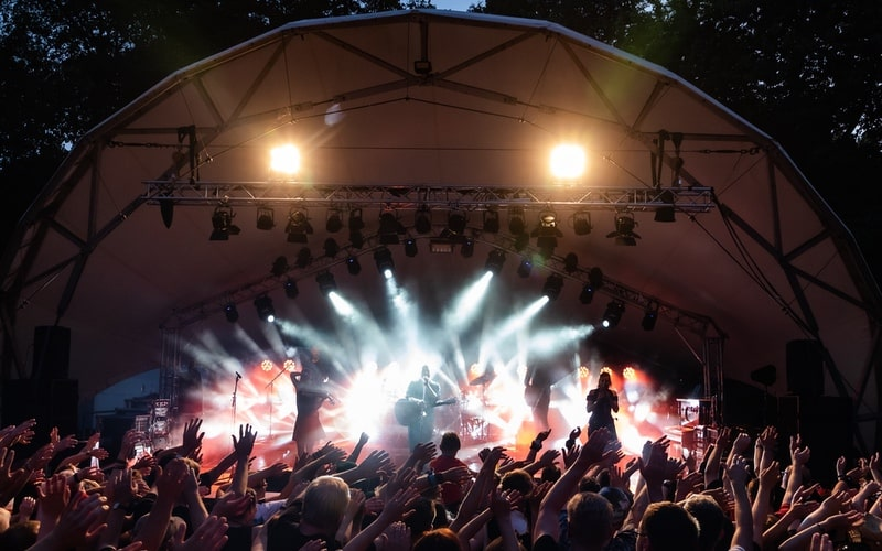 Rapid temporary cctv for music event