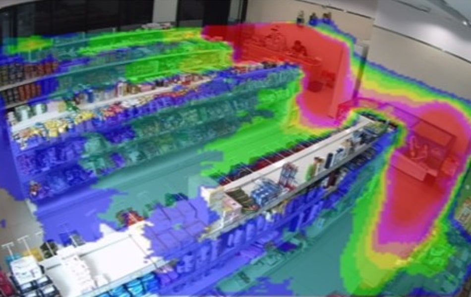 Heat mapping camera software for retail