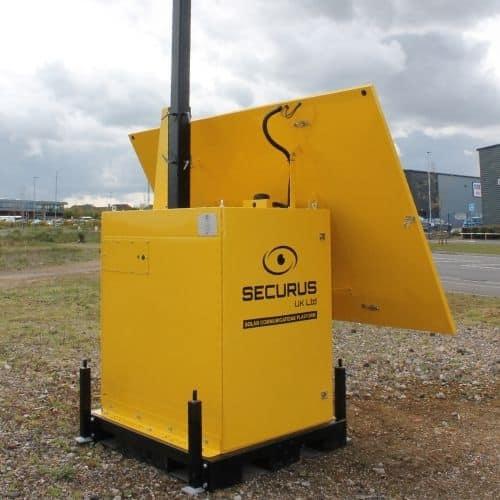 Solar Communication Paltform - rear view