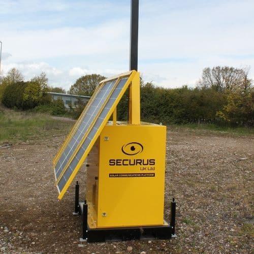 Solar Communication Paltform - side view